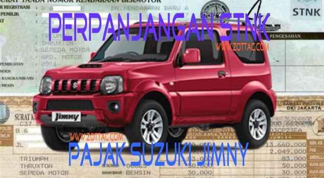 Daftar Biaya Pajak Suzuki Jimny Semua Tahun Id Zottac Com
